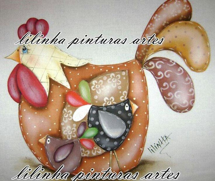 Galinhas - Lilinha Pinturas Artes