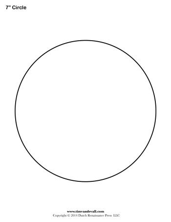 Best Circles Images On   Circle Template Shape
