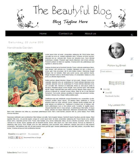The Beautiful Blog OSF  Premade Blogger Template   by Symufathemes, $25.00