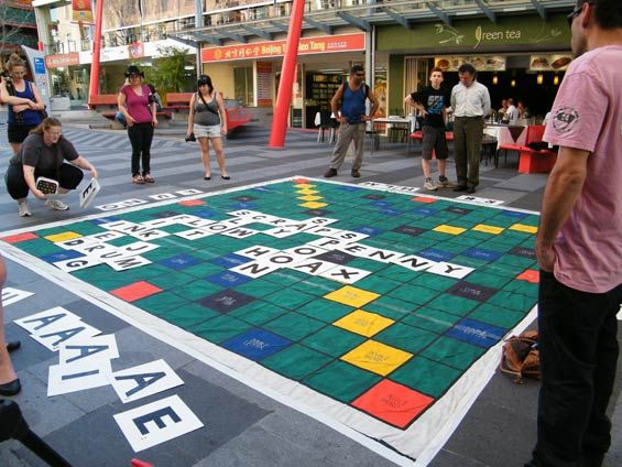 Life-size Scrabble and other life-size board game inspirations via Mental Floss
