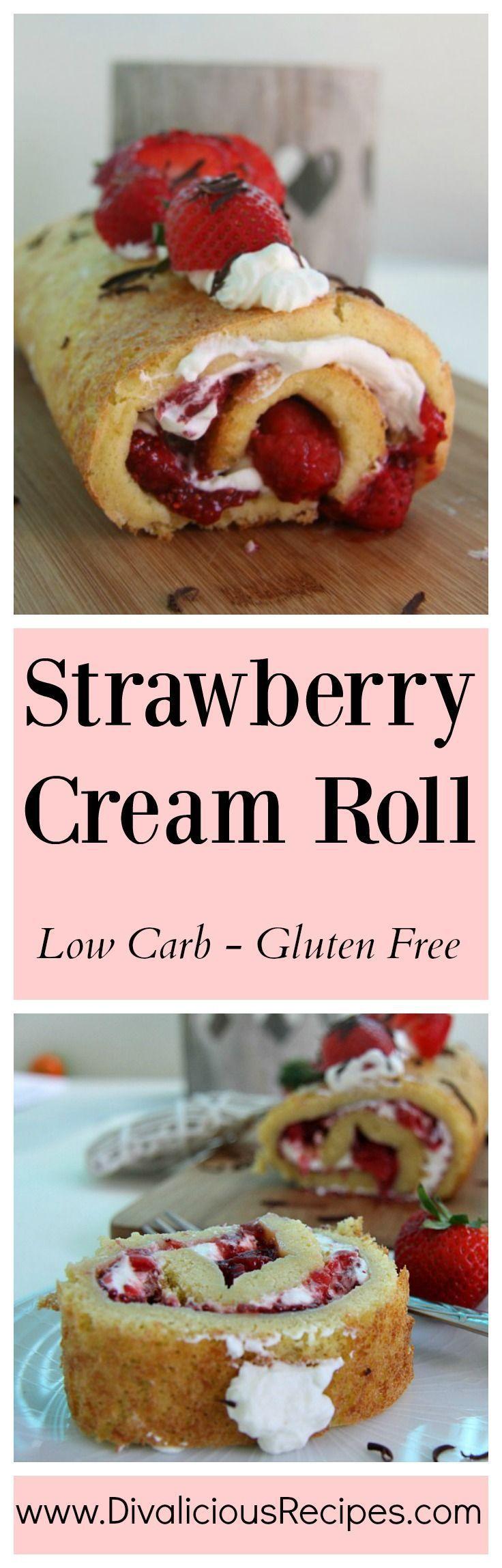 Strawberry cream roll