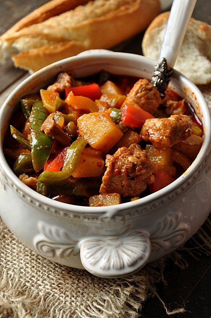Zupa gulaszowa z papryką