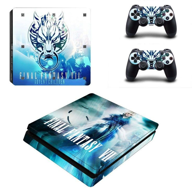 Final Fantasy VII Play Station 4 slim skin decal for console and 2 controllers