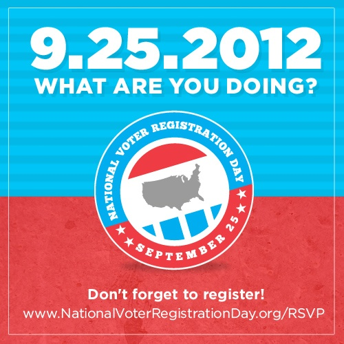 Today is National Voter Registration Day