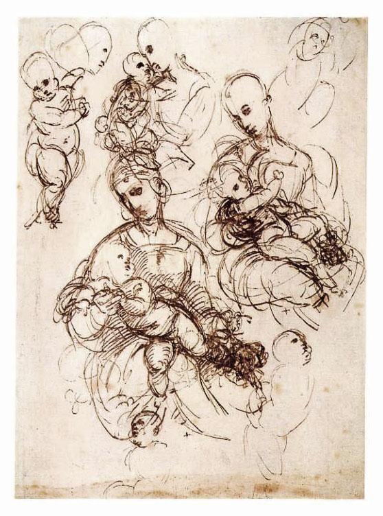 Raffaello, Disegni Madonna Bridgewater