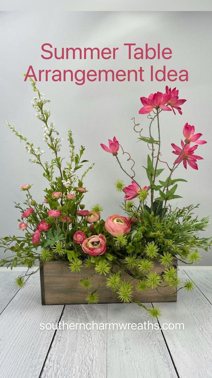 Modern Flower Arrangements, Silk Floral Arrangements, Succulent Arrangements, Table Arrangements, Artificial Flower Arrangements, Summer Centerpieces, Floral Centerpieces, Silk Flower Wreaths, Silk Flowers