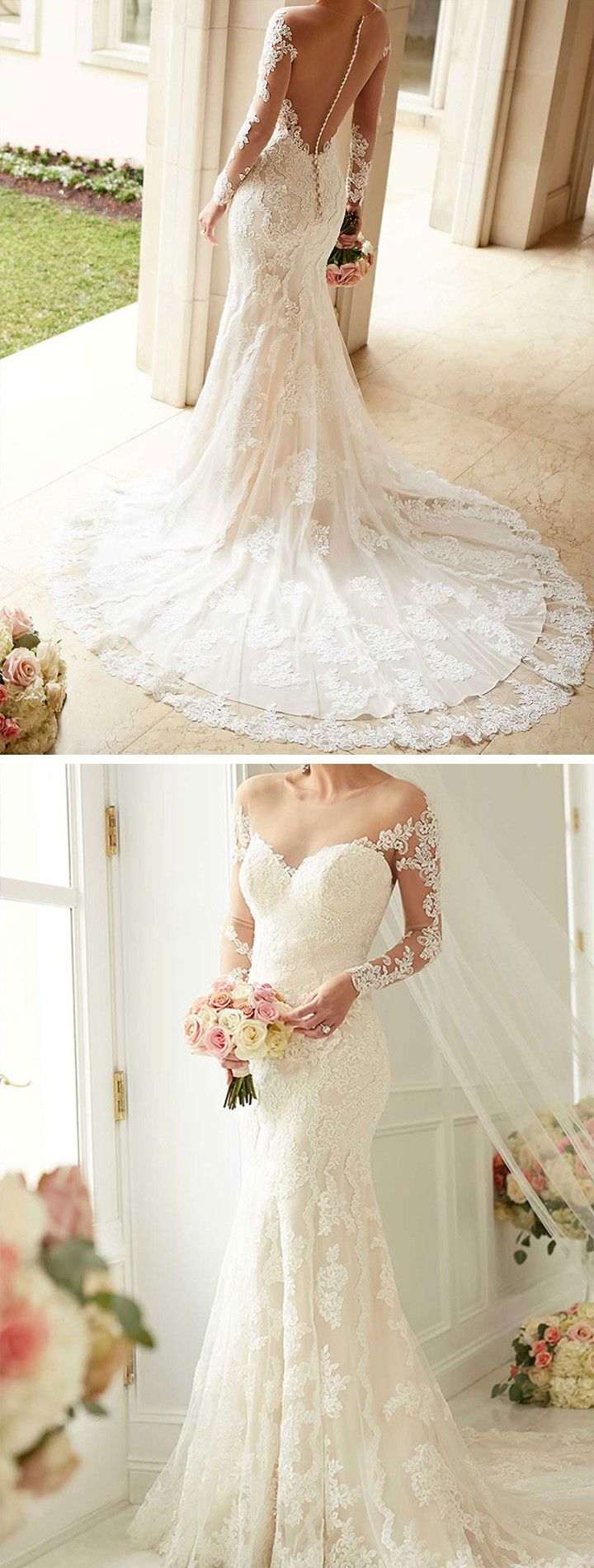 Boat neck lace wedding dress october 2018  best Christian wedding dress images on Pinterest  Groom attire