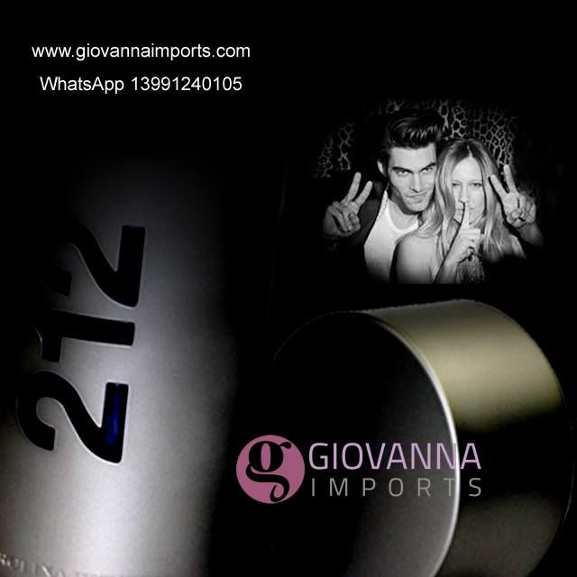 Perfume 212 Nyc men 100ml na Giovanna Imports whatsapp 13991240105