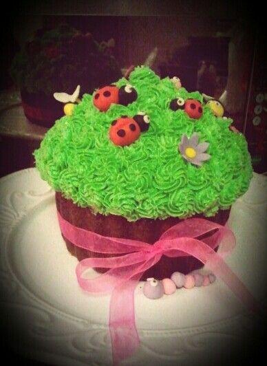 Bug giant cupcake
