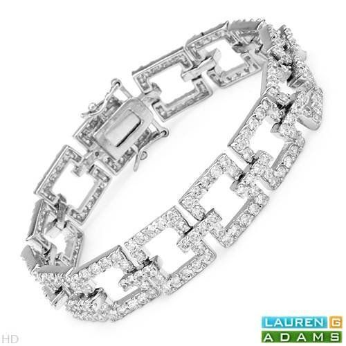 LAUREN G. ADAMS Nice Bracelet With 15.50ctw Cubic zirconia Crafted in 925 Sterling silver. Total item weight 28.2g Length 7.5in Lauren G. Adams. $114.00. Save 81% Off!