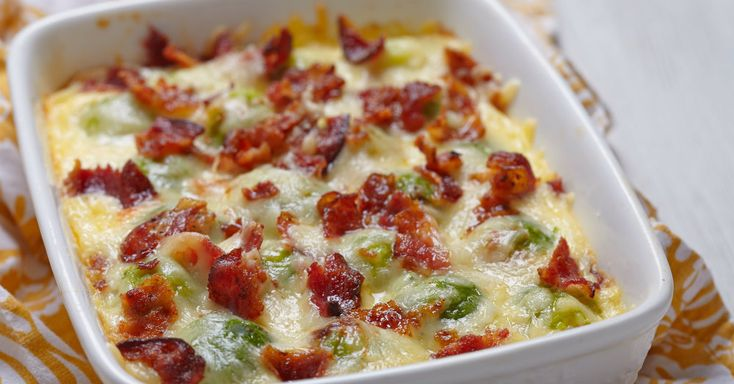 For Those Of You Who Don't Like Brussel Sprouts, This Cheesy Casserole Will…