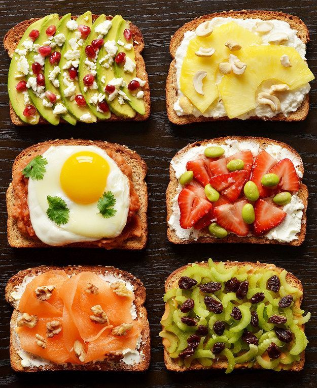 La misma tostada, diferentes combinaciones #Breakfast #Energy #Combination