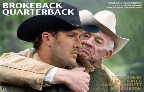 Tony Romo is a Brokeback Quarterback