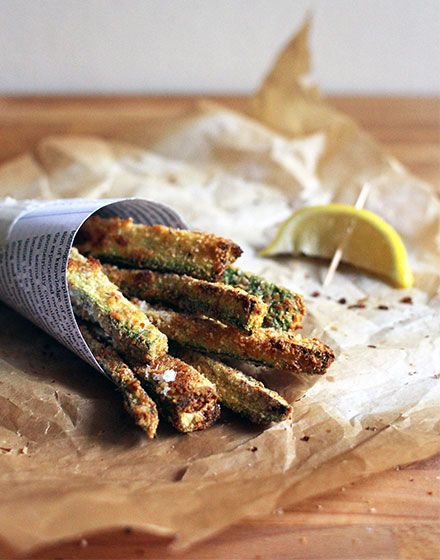 Zucchini and parmesan chips  by Elizabeth Hewson from moving out...eating in - a cook book (and blog) for home leavers. www.movingouteatingin.com