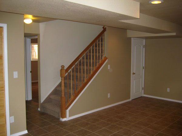 basement stair rail basement ideas pinterest