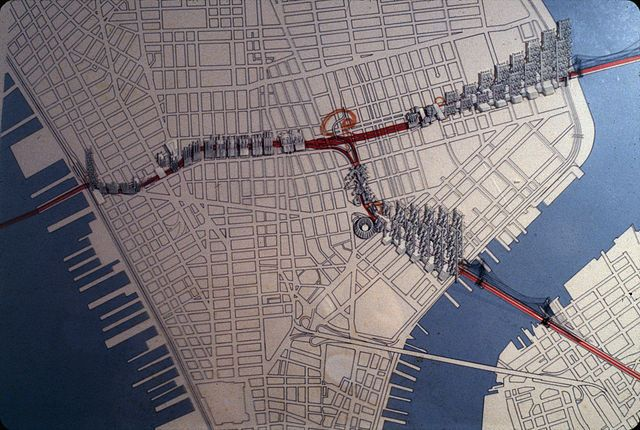 The NYC That Never Was: Robert Moses' Lower Manhattan Expressway (LOMEX)... Robert Moses' LOMEX plan would have connected the Manhattan and Brooklyn Bridges to Holland Tunnel, razing 14 blocks of what is currently SoHo and Little Italy.