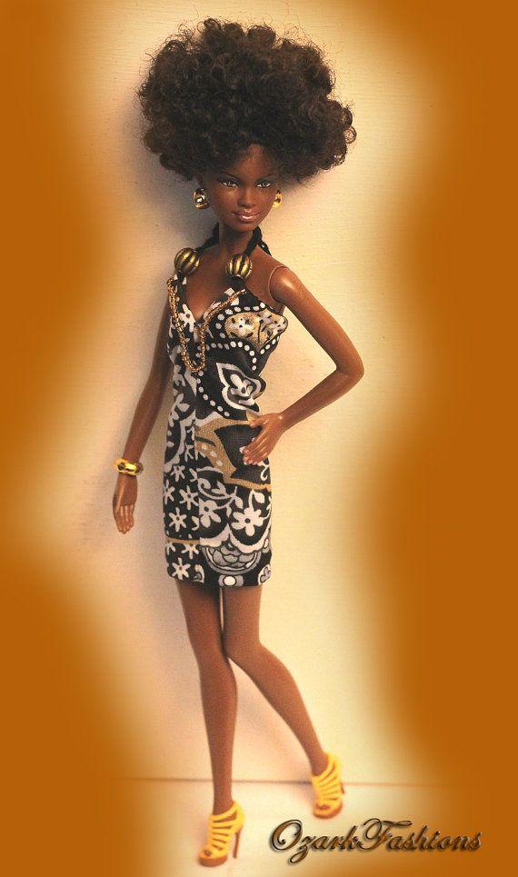 Handmade Barbie Dress Silkstone Barbie Basic by OzarkFashions, $10.00
