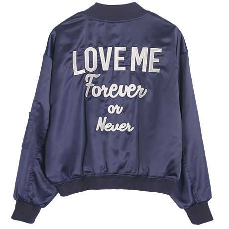 LOVE ME FOREVER OR NEVER WINDBRAKER JACKET $25
