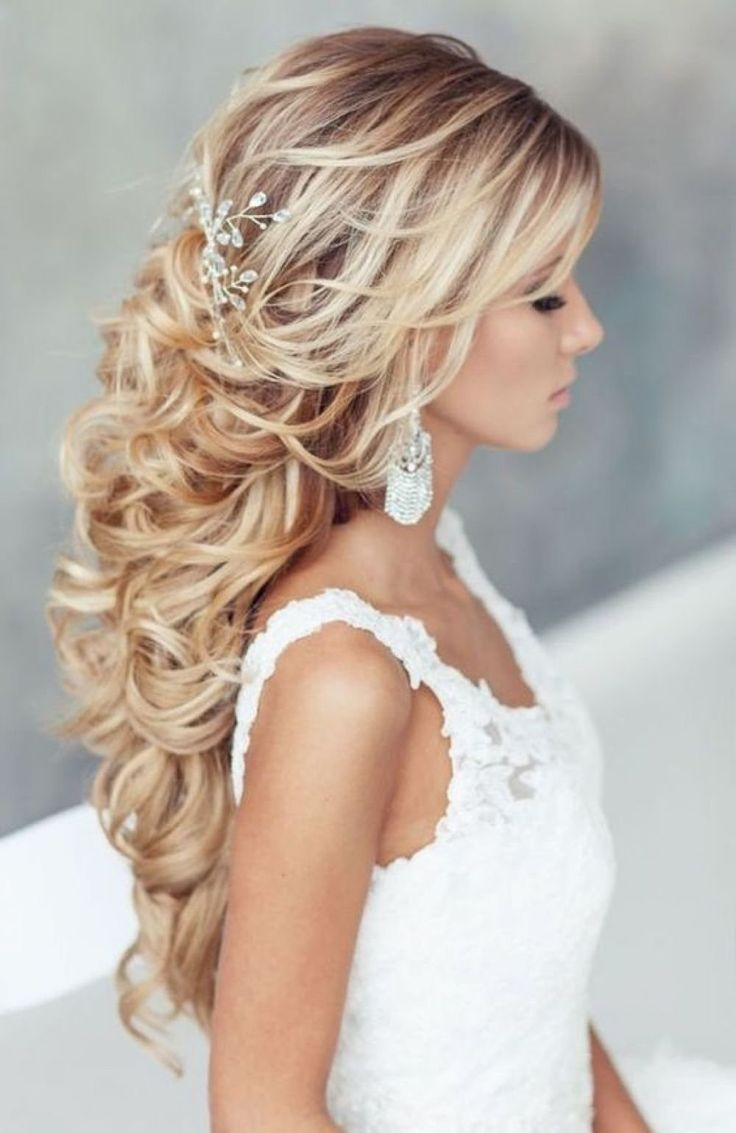 Beautiful Hairstyles On Curls 50 Photos Styling On Medium And Long Hair Beautiful Curls Hairstyles Hair Styles Wedding Hair Down Long Hair Styles