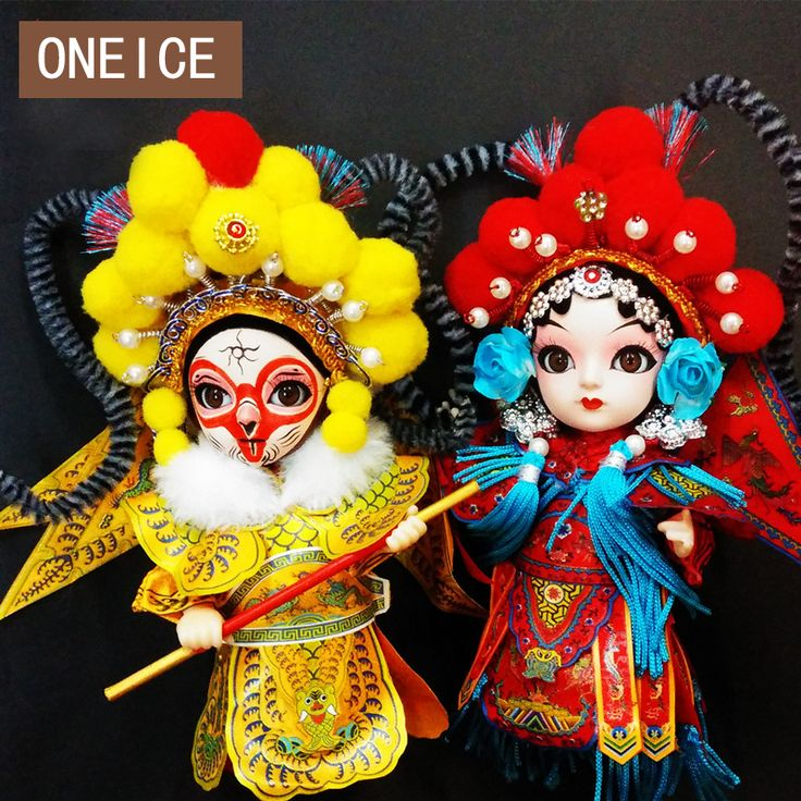 Q version of Peking man silk Chinese Characteristics  Q edition doll Peking Opera abroad Foreign Souvenir commemorative gift #Affiliate