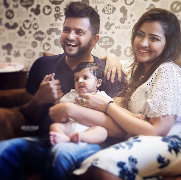 Suresh Raina clicked with wife Priyanka & daughter Gracia :) For more cricket fun click: http://ift.tt/2gY9BIZ - http://ift.tt/1ZZ3e4d