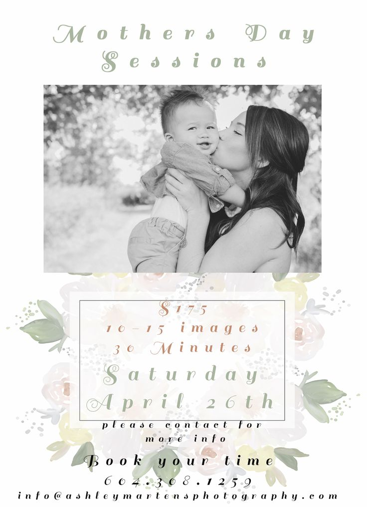Mothers Day Sessions!!!! Email for more info!! info@ashleymartensphotography.com