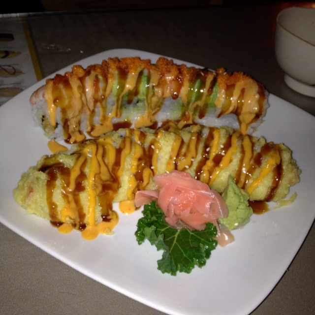 Sushi: Roll and Tiger Crunch Roll:)<3