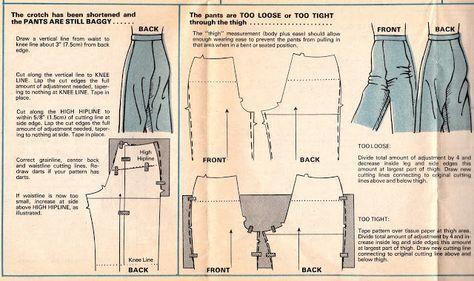 Alterando calças que são largas, muito solto ou muito apertado