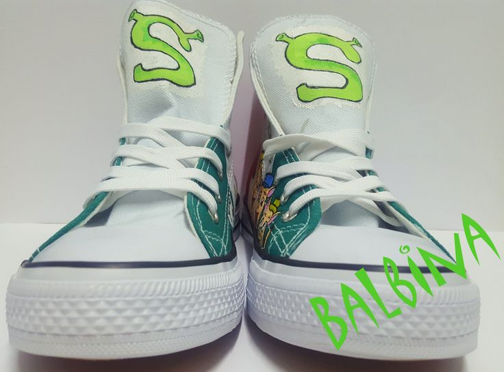 Shrek - hand painted trainers  https://web.facebook.com/Balbina-R%C4%99cznie-malowane-buty-i-ubrania-hand-painted-shoes-and-clothes-849793331796229/