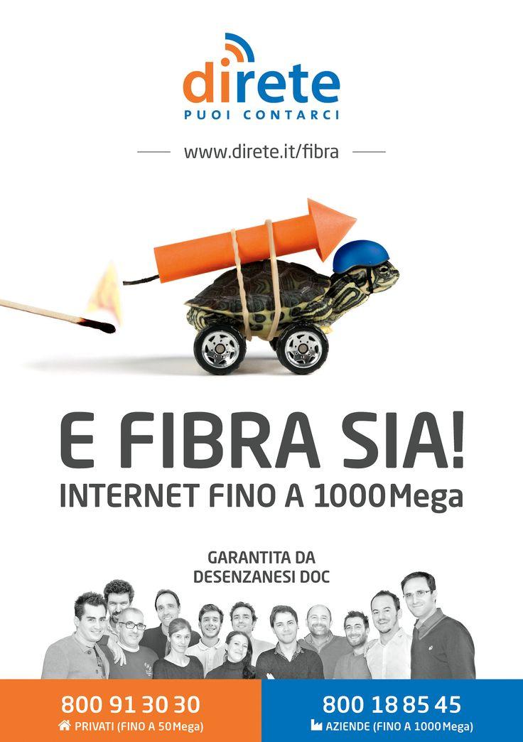 Nuova campagna affissioni e mailing per lancio fibra ottica by DiRete su Desenzano del Garda (BS)