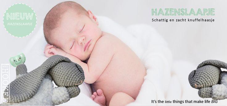 Hazeslaapje - Super zacht slaaphaasje - Scheepjes Sweetheart Soft - Haakpatroon - Haken - Haasje