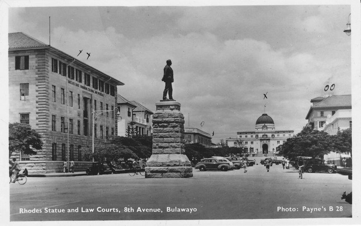 Rhodes Statue and Law Courts, 8th Avenue, Bulawayo