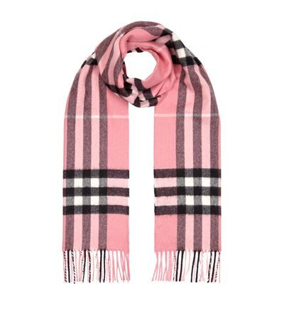 Burberry Check Cashmere Scarf Grey. Shop Burberry online and earn Rewards points.