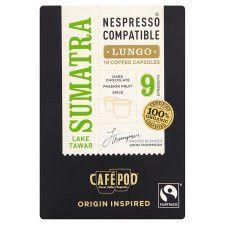 Cafpod Fair Trade Sumatra Coffee Pods 10 Servings