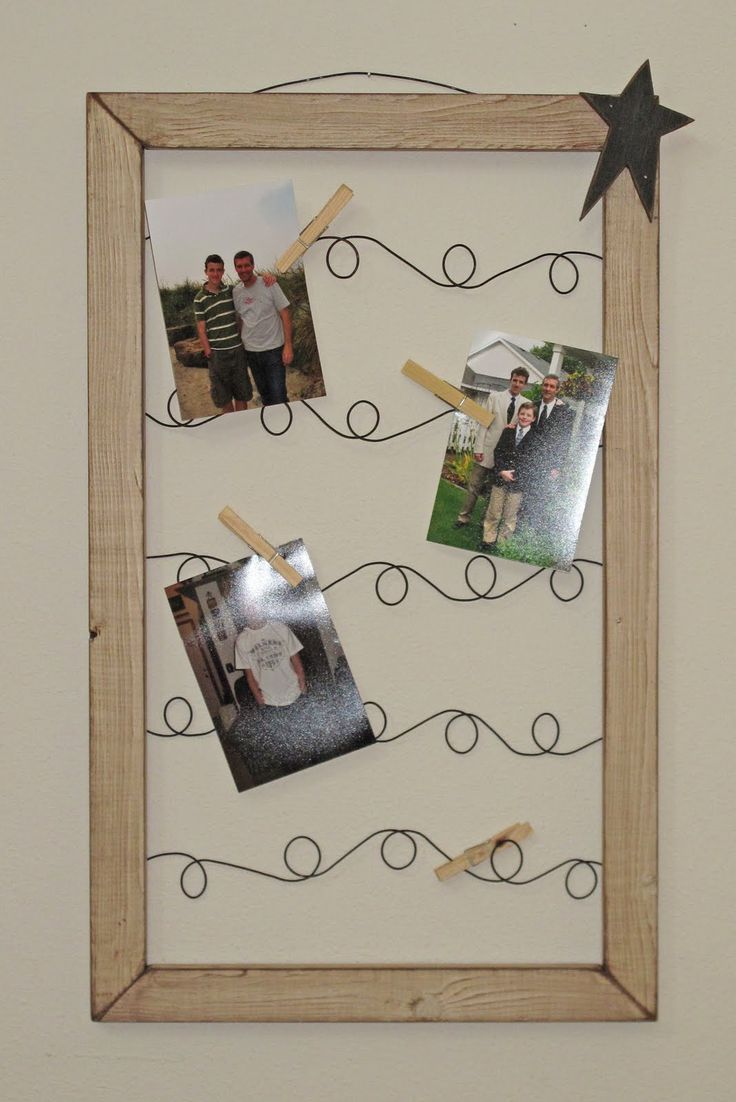 DIY: How to Make a Primitive Wire Picture Frame - wire picture holders made.