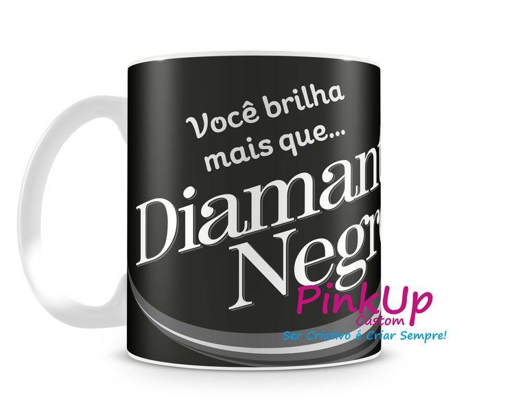 Caneca Chocolate Diamante Negro  Ótimo presente para a Páscoa  #Chocolate #Pascoa