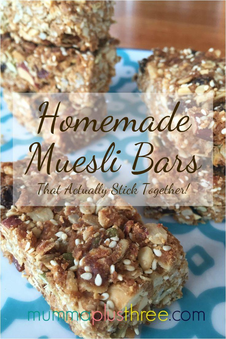 Homemade Muesli Bars (That Actually Stick Together) Mumma Plus Three