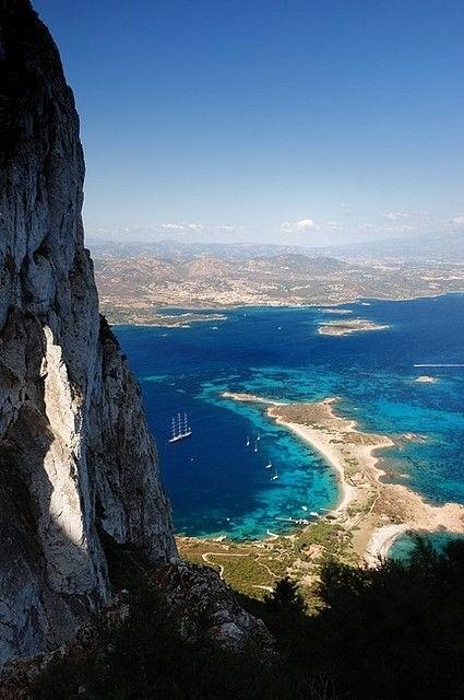 Olbia, view from Tavolara, Sardinia - Sardegna, Italy