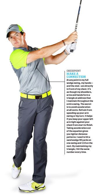 #Rory McIlroy #Golf... Wedge it close with your body!! The more active your hands and wrists are through the swing, increase the chance for a miss hit, Use the body to hit the ball as much as possible... @chiplayersclub