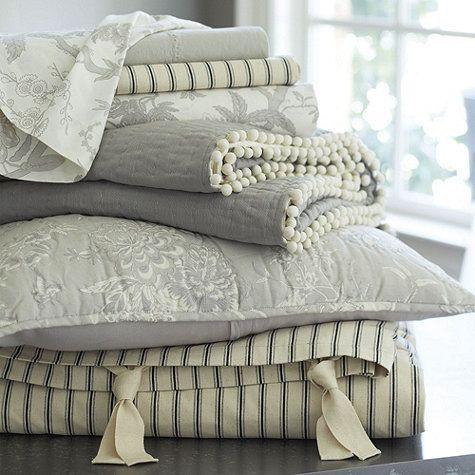 Ticking Stripe Bedding - Black