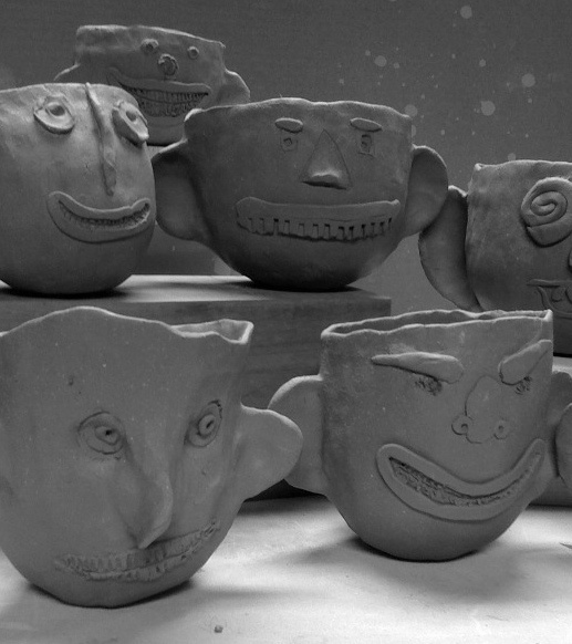 365 Days of Pinch Pots: The Art of the Ear face pinch pots
