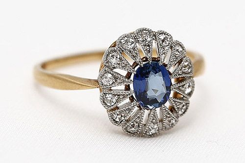 An Edwardian Love Affair with Sapphires and Diamonds    The gilded age of the Edwardian era is characterized by decadence and luxury, and this clearly extended to the jewelry that women of that time wore as a display of their social status. Engagement and wedding rings were no exception. Read More... #Titanic #Jewelry