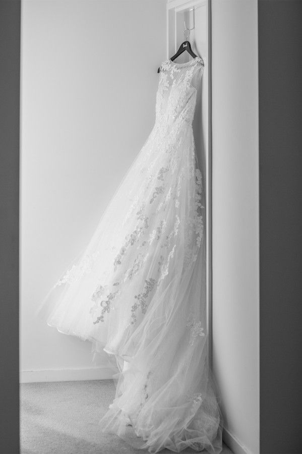 Gorgeous wedding dress from Amelia & Sams wedding as feature on Real Wedding by @easyweddings | G&M DJs | Brisbane Weddings #gmdjs