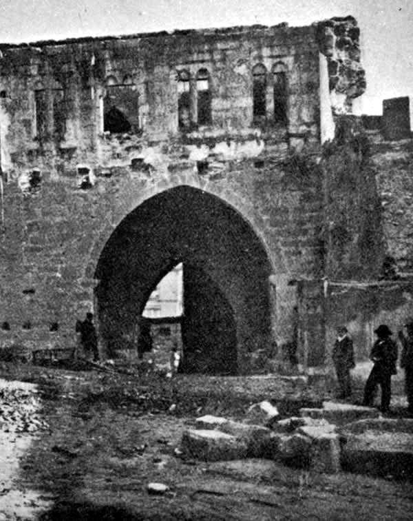 Puerta Obispo a finales del siglo XIX o principios del XX.Imagen capturada de internet