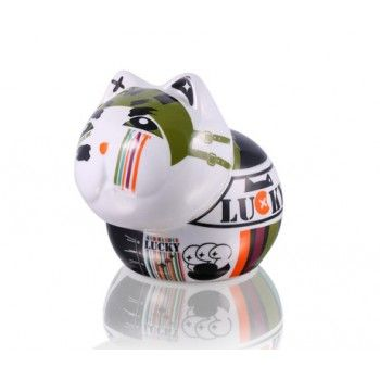 Porcelanowa Skarbonka Kot Komando #dladzieci #skarbonka #goodform