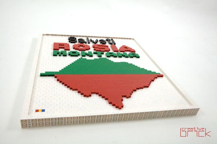 Around 1750 LEGO bricks used, Dimensions: 53,5 cm x 60,5 cm (21 inch x 23,8 inch) by www.creativebrick.ro