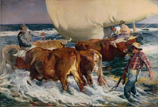 Joaquín Sorolla Bastida (1863-1923). Sol de la tarde. 1903. Óleo sobre lienzo. The Hispanic Society of America, New York, USA.