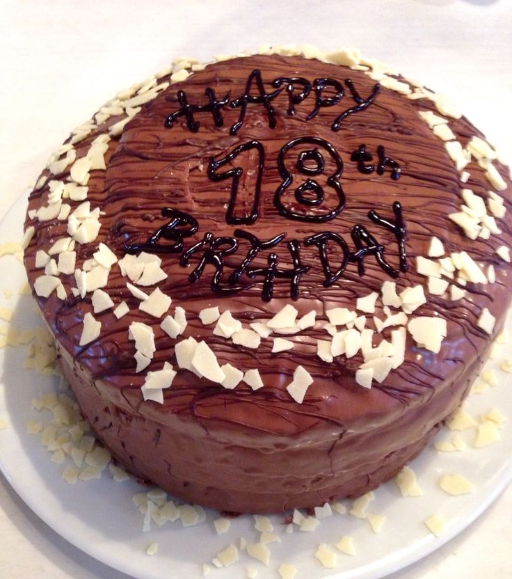Checkerboard marble cake 18th birthday