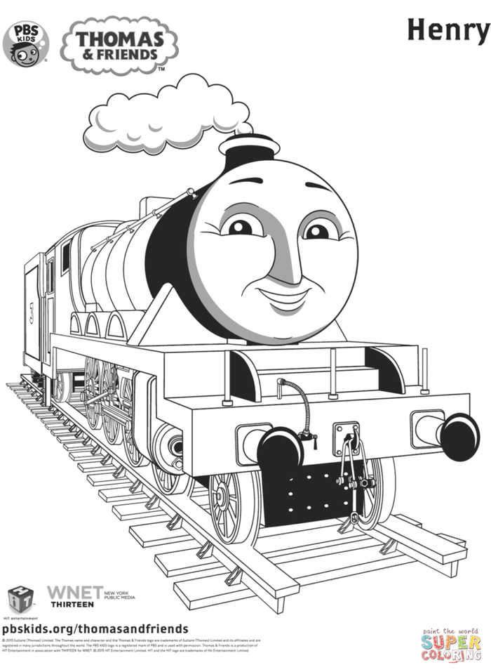 Thomas Coloring Page Henry In 2020 Train Coloring Pages Thomas And Friends Coloring Pages