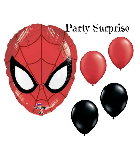 Spiderman Balloons Spiderman Party Balloon by PartySurprise
